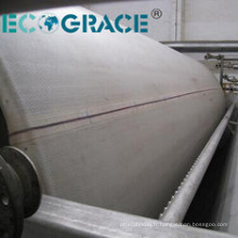 Tissu de presse de filtration de matériel de polyester de dioxyde de titane
