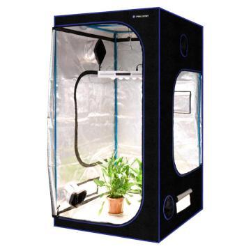 Tente de culture de plantes hydroponiques avec fenêtre noire
