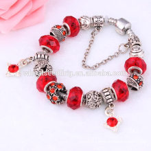 cerise russian red beads diy handwork china tassel fit bit bracelet