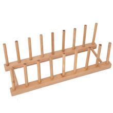 Estante del soporte del almacenador del tenedor del soporte Estante de sequía del plato de bambú de la cocina
