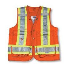 Orange 100% Polyester Feldmesser Weste