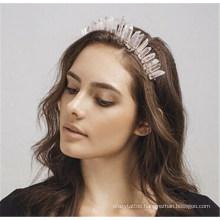 Queena Vintage Fairy Crown Quartz Crown Hairband Bridal Headpiece Party Hair Accessory Party Tiaras