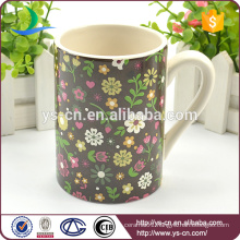 2014 China Wholesale ceramic mug factory With Flower Design