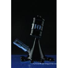 Tubo de agua de fumar del vidrio de la pipa de agua de la cachimba del derramamiento del aceite negro (ES-GB-560)