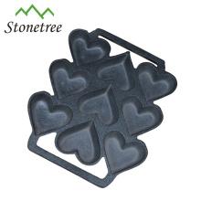 Utensilios para hornear pretensados de hierro fundido / molde para pastel de hierro fundido / molde para muffins