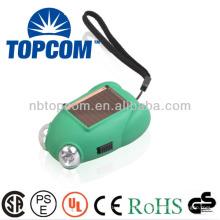 2 leds frog ABS linterna solar de manivela de mano de antorcha TP-PH004