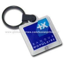 PVC LED keychain for promotion purpose, customized designs and sizes are accepted