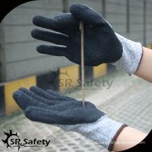 SRSAFETY 13G трикотажные латексные лакированные рабочие перчатки / перчатки с разрезом