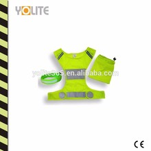 High Visibility Reflective Running Vest with LED Armband for Cycling