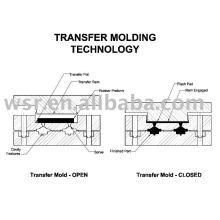 transferir el molde de goma