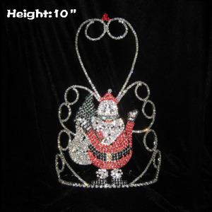 Crystal Happy Santa Claus Christmas Crowns