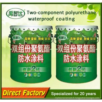 Revêtement imperméable de polyuréthane de deux composants pour la construction