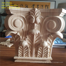 solid wood material and elegant home decoration wooden corbels