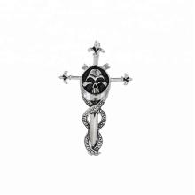 pendentif-227 xuping fashion bijoux en acier inoxydable tête de mort tête croix pendentif