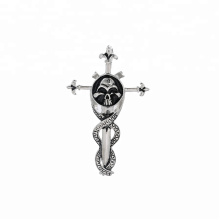 pendant-227  xuping  fashion Stainless Steel jewelry  skull head cross pendant