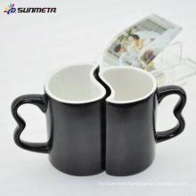 11oz black magic color change sublimation blank couple mug