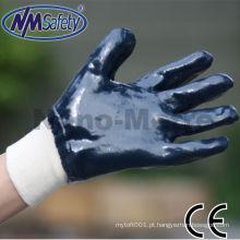 Luva de nitrilo resistente a óleo NMSAFETY Luva de trabalho NBR resistente alta qualidade