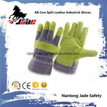 Luvas de trabalho de pele dividida em couro de segurança industrial