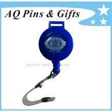 Carrete azul de la divisa con la tira del PVC