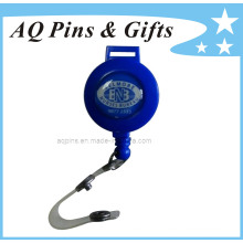 Bobine de badge bleue avec bande de PVC