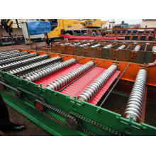 Máquina de moldagem de rolo de painel de telhado de aço colorido / Máquina de fazer telhados ondulados