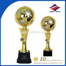 Trofeo popular de fútbol de fantasía con base de trofeo de plástico