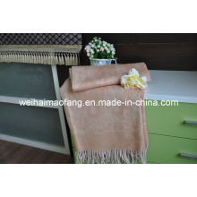 Cerca de 100% pura lana con flecos (NMQ-WT039)