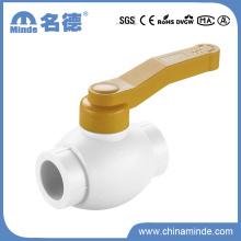 Válvula de bola de latón PPR tipo B para material de construcción (PN25)