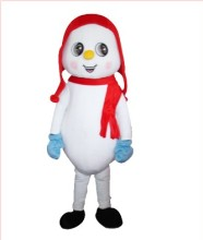 High Quality and Hand-made Snowman Mascot Costume Fancy Party Dress Xmas and Halloween Supply Adult Size