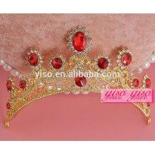 Reyes decorativos y reina de la Navidad de la boda tiara peine