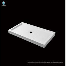 Baño de venta caliente Base de ducha acrílica profunda de esquina