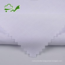 White woven polyester cotton jersey fabric