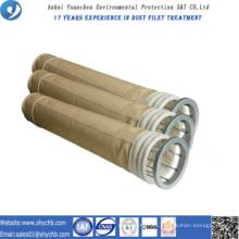 Bolsa de filtro de colector de polvo de aramida para la planta mezcladora de asfalto