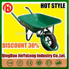 China carrinho de mão de fábrica profissional direto de alta qualidade com vedação de roda pneumática pu sólida