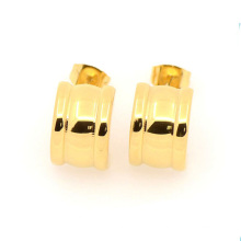 Fashion special design stainless steel gold earring jewelry wholesale, simple gold earring designs for women