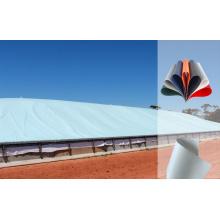 Lonas de cubierta de almacenamiento de pila de grano sin PVC