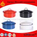 Tradicional esmalte Stock Pot utensilios de cocina