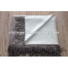 Two Sided Pure Cashmee knitting bed throws blankets