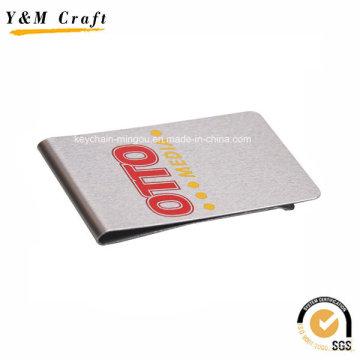 Metal de alta qualidade prata Metal Slim Money Clip Holder Ym1200 personalizado