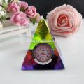 Elegante reloj de escritorio grande de cristal personalizado para decoración de mesa y regalo de recuerdo