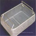 Cesta de armazenamento de malha de arame de aço inoxidável de retângulo de alta qualidade