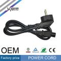 SIPU clavija de 2 clavijas cable de extensión estándar europeo Eu Clavija de 2 clavijas 220v Cable de alimentación Cable de alimentación europeo con IEC C13