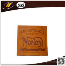 Etiquetas de couro impressas com selo quente para jeans (HJL35)