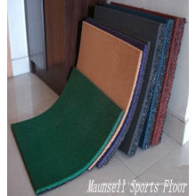 China Facroty Sale Rubber Interlock / Tile / Roll Sports Gym Flooring