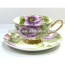 Wholesale cheap good quality chinese porcelain embos porcelain teacup set