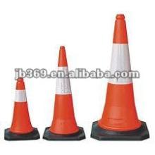 Cono de tráfico PVC reflectante rojo para seguridad vial