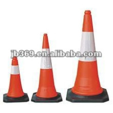 Red reflective PVC Traffic cone for road safety