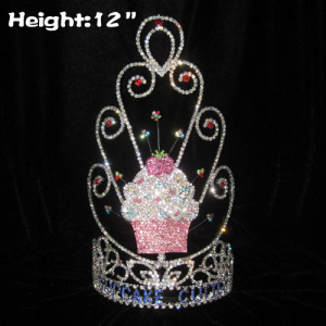 12in Height Custom Cupcake Pageant Crowns