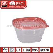 Recipiente transparente de alimento plástico claro Eco-friendly da classe armazenamento com tampa