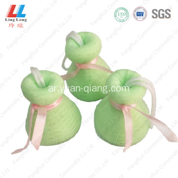 Attractive smooth facial mesh loofah sponge